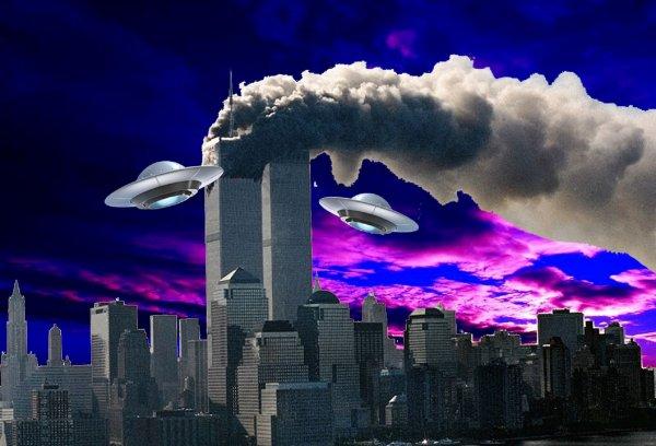 Тайна теракта 11 сентября: Над Нью-Йорком засекли два НЛО-потрошителя