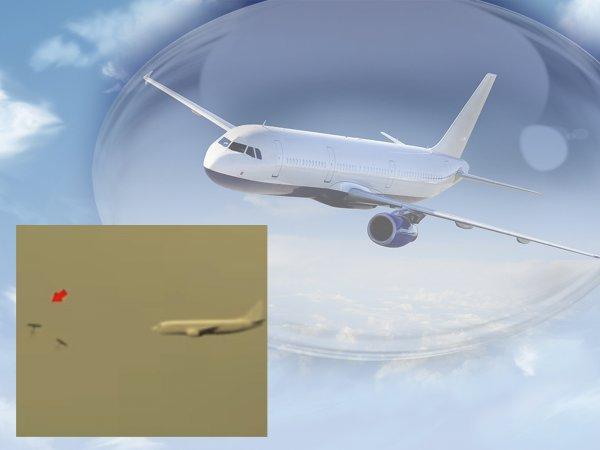 Защита по-русски: Пришельцы не смогли сбить пассажирский самолёт и рухнули в океан