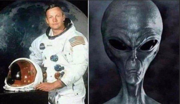 Армстронг — пришелец? Запись полёта на Луну оказалась подделкой