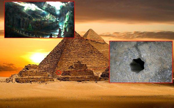 Подземный Египет. Рядом с пирамидами нашли дыру, ведущую под Землю