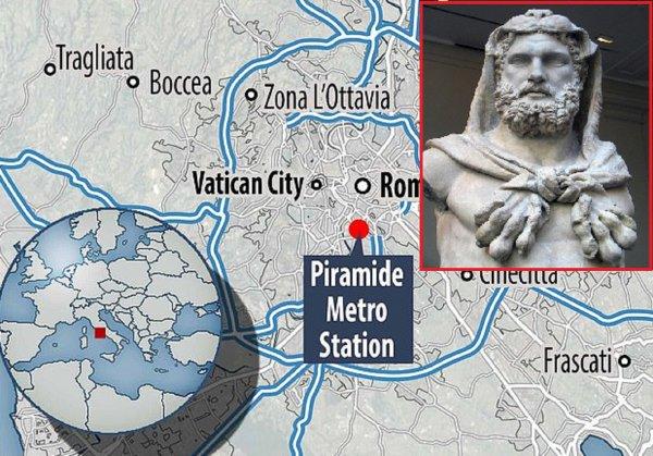 В Риме нашли могилу Геракла: 2,5-метровый скелет похоронили в крови кентавра
