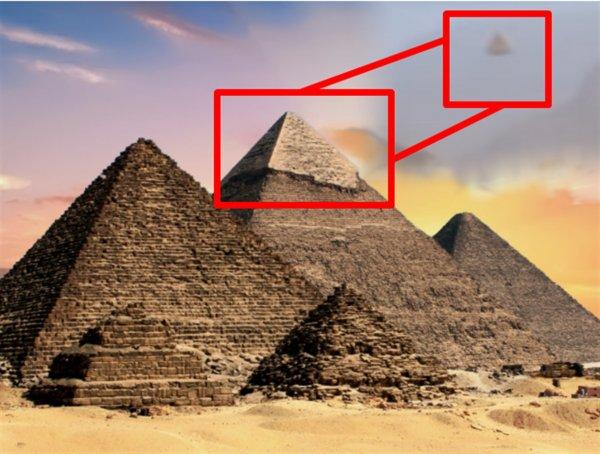 Первая МКС: Турист из России заснял в Египте парящую пирамиду