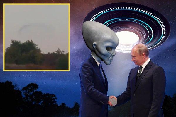 Торт с Нибиру и ракеты в подарок: Пришельцы прилетели на день рождения Путина