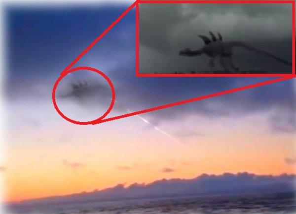 Дракон с Сатурна напал на Приморье: Рыбаки засняли ящера после падения метеорита